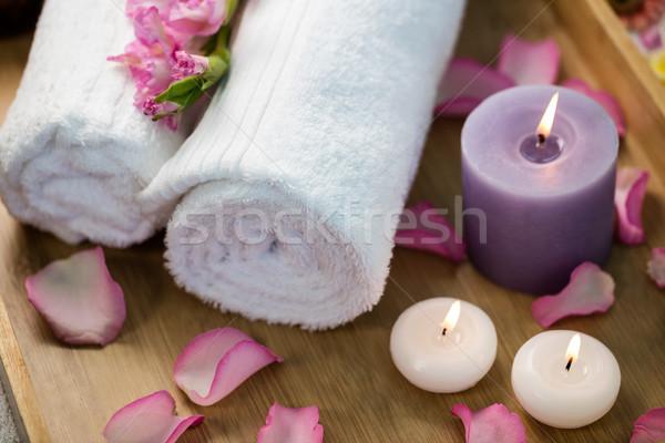 Tepsi güzellik tedavi otel yaşam tarzı lüks Stok fotoğraf © wavebreak_media