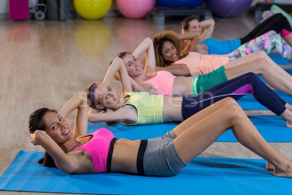 Group of women exercising Stock photo © wavebreak_media