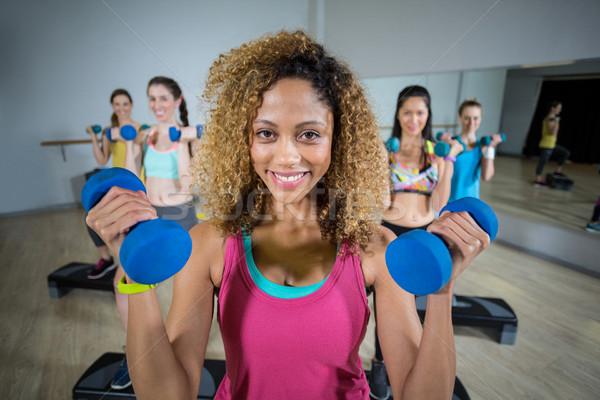 Groep vrouwen fitness chinese Stockfoto © wavebreak_media