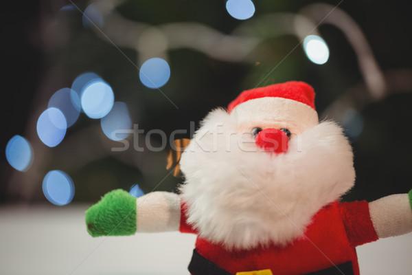 Дед Мороз деревянный стол Рождества время домой Сток-фото © wavebreak_media