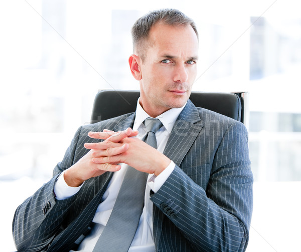 Self-assured businessman looking at the camera Stock photo © wavebreak_media