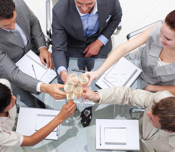 Equipe de negócios champanhe escritório negócio Foto stock © wavebreak_media