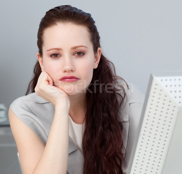 Close-up of a bored young businesswoman  Stock photo © wavebreak_media