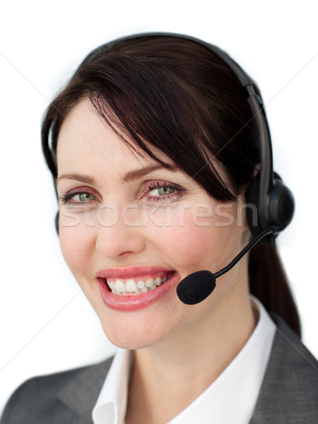 Assertive businesswoman with headset  Stock photo © wavebreak_media
