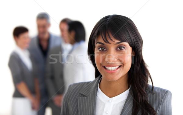 Skupić uśmiechnięty kierownik zespołu biuro budynku Zdjęcia stock © wavebreak_media