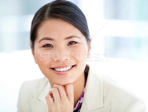 портрет положительный деловая женщина работу служба улыбка Сток-фото © wavebreak_media