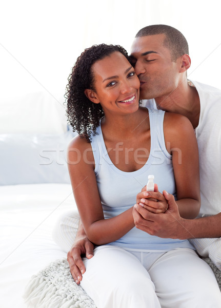 Excited couple finding out results of a pregnancy test  Stock photo © wavebreak_media