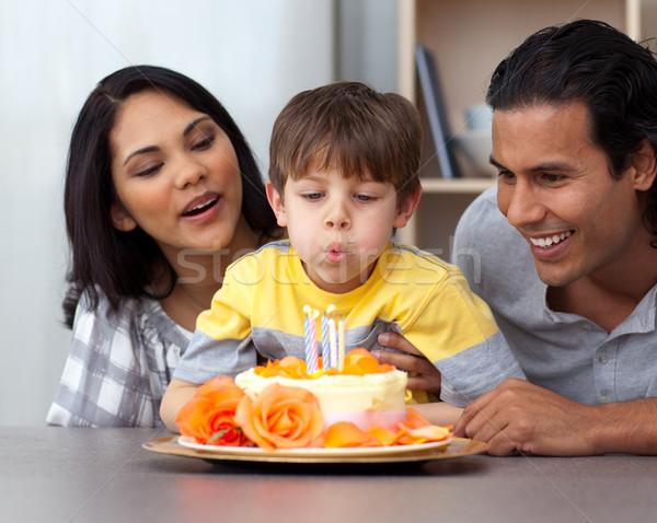 Young parents celebrating their son's birthday Stock photo © wavebreak_media