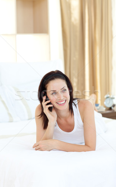 Attractive woman talking on phone Stock photo © wavebreak_media