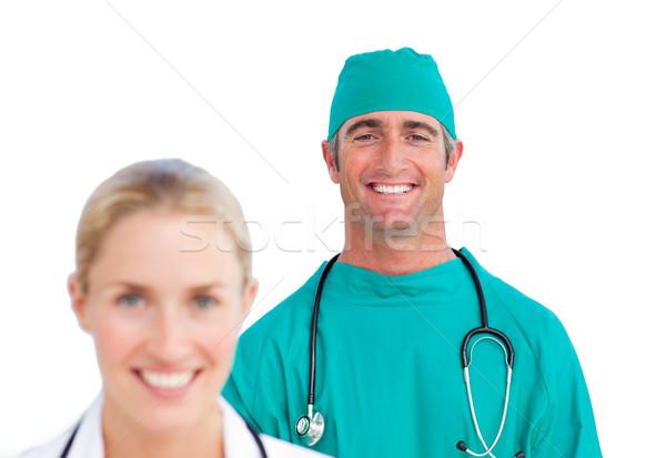 Arts volwassen chirurg glimlach werk Stockfoto © wavebreak_media