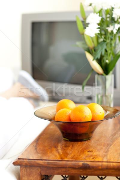 Portakal çanak tablo ev ev Stok fotoğraf © wavebreak_media