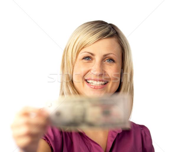 Mutlu kadın dolar gülen Stok fotoğraf © wavebreak_media