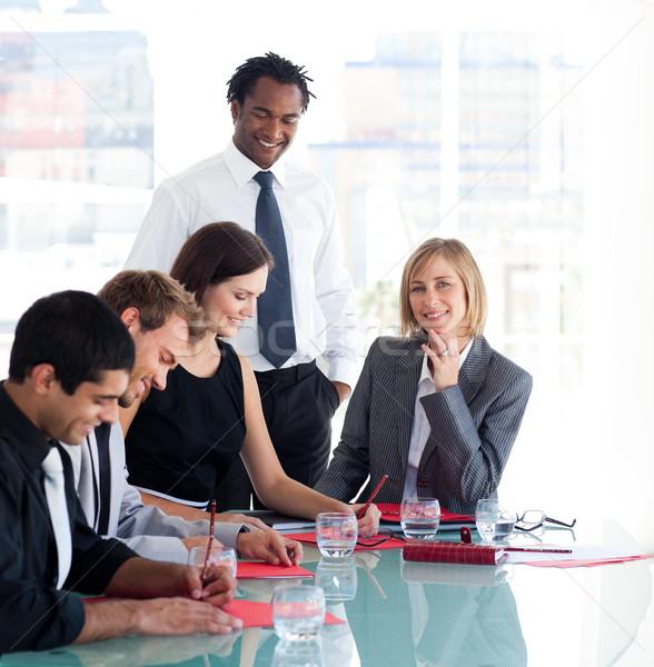 üzletember képzés csoport diákok üzlet nő Stock fotó © wavebreak_media