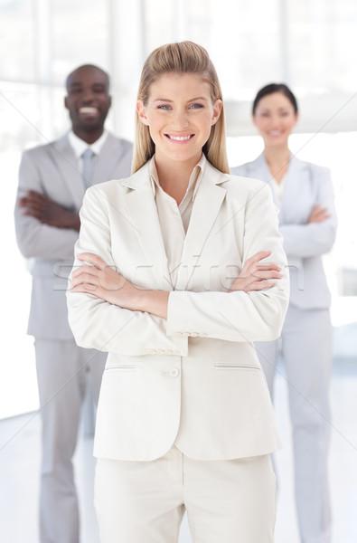 красивой женщины менеджера команда служба человека Сток-фото © wavebreak_media