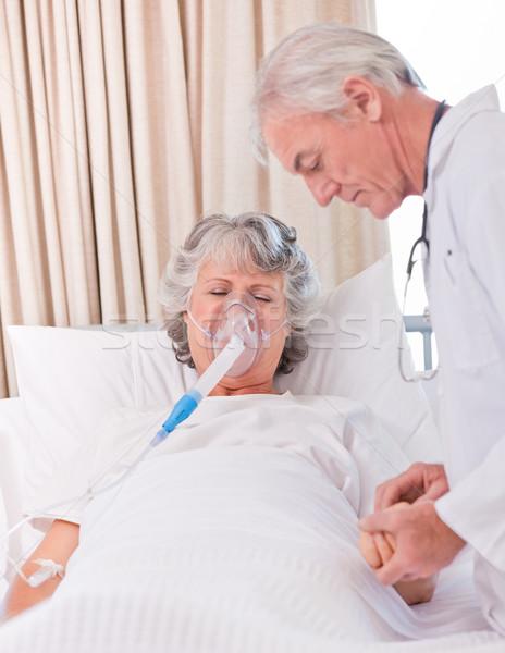 Senior médico doente paciente homem saúde Foto stock © wavebreak_media