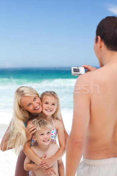 Man foto familie vrouw kinderen Stockfoto © wavebreak_media