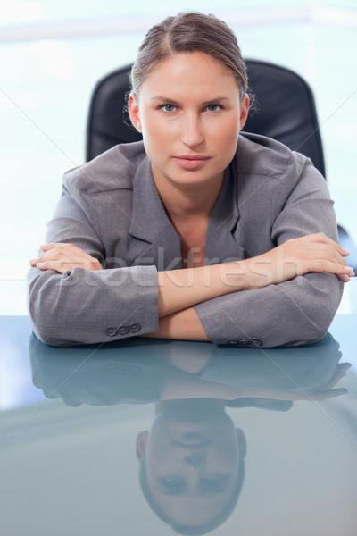 Portre ciddi işkadını büro bakıyor Stok fotoğraf © wavebreak_media