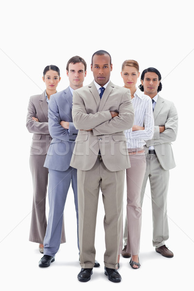 Déterminé équipe commerciale bras blanche Homme professionnels Photo stock © wavebreak_media