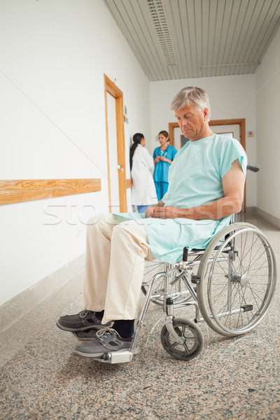 Patient in a wheelchair closing eyes Stock photo © wavebreak_media