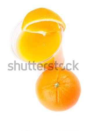 Glass of orange juice on white background Stock photo © wavebreak_media