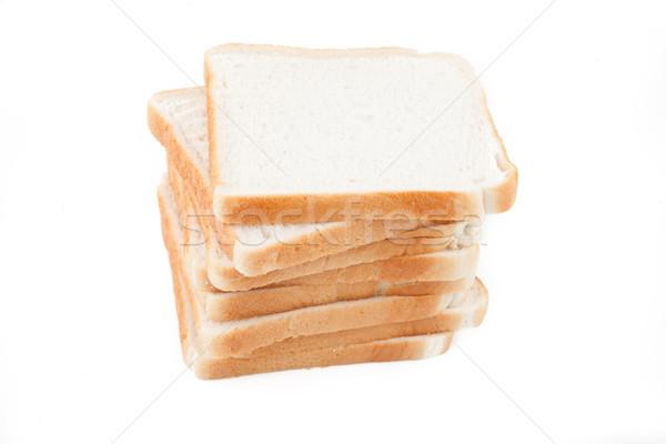 Stack of white sliced pan bread Stock photo © wavebreak_media