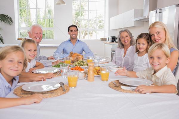 Family celebrating thanksgiving  Stock photo © wavebreak_media