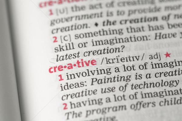 Stock photo: Creative definition