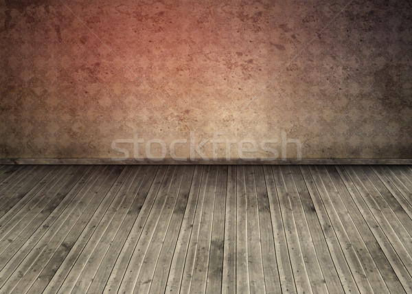 Empty room with dirty floorboards  Stock photo © wavebreak_media