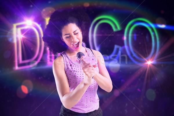 Görüntü güzel kız şarkı söyleme dijital Stok fotoğraf © wavebreak_media