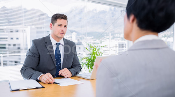 Recruiter checking the candidate during job interview Stock photo © wavebreak_media