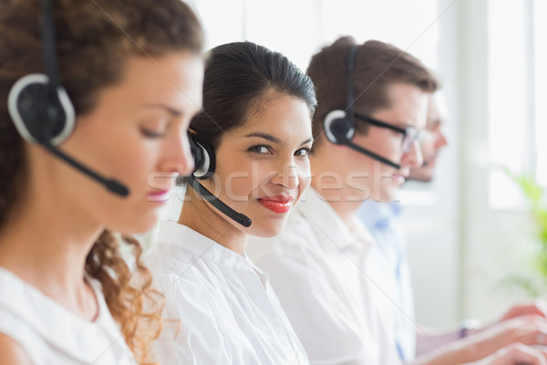 Businesswoman working in call center Stock photo © wavebreak_media