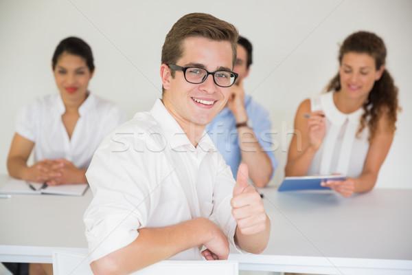 Mannelijke kandidaat portret gelukkig Stockfoto © wavebreak_media