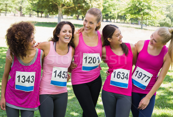 Women participating in breast cancer marathon Stock photo © wavebreak_media