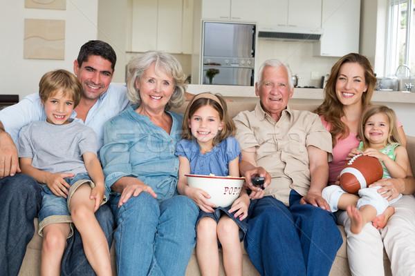Család szabadidő portré mosolyog együtt otthon Stock fotó © wavebreak_media