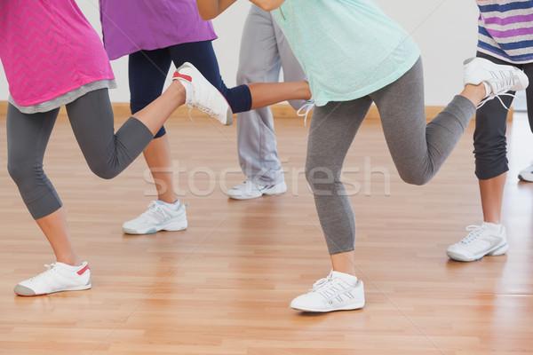 Alacsony részleg osztály oktató pilates testmozgás Stock fotó © wavebreak_media