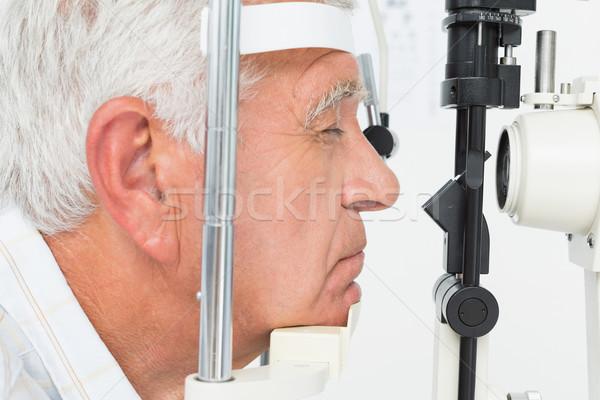 Senior man hoornvlies zijaanzicht ouderen Stockfoto © wavebreak_media