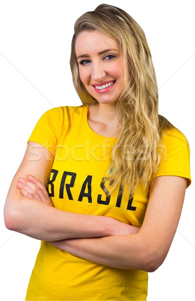 Football fan in brasil tshirt Stock photo © wavebreak_media
