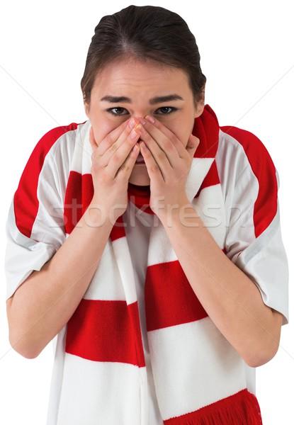 Nervös Fußball Fan schauen vor weiß Stock foto © wavebreak_media