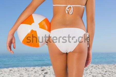 вид сзади соответствовать женщину Бикини пляж Сток-фото © wavebreak_media