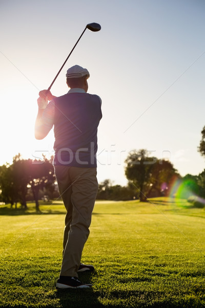 Golfer teeing off for the day Stock photo © wavebreak_media