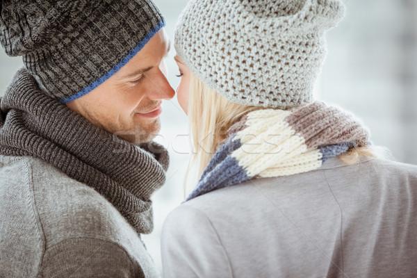 çift sıcak tutacak giysiler karşı diğer soğuk gün Stok fotoğraf © wavebreak_media