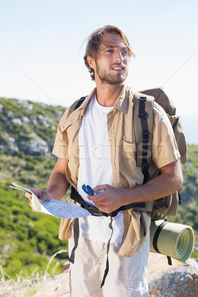 красивый турист карта компас горные Сток-фото © wavebreak_media