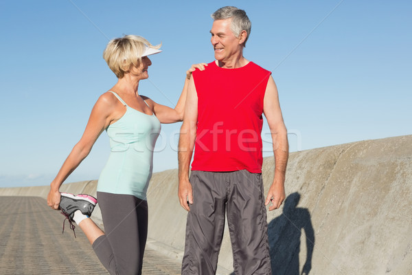 Active senior couple stretching before a jog Stock photo © wavebreak_media