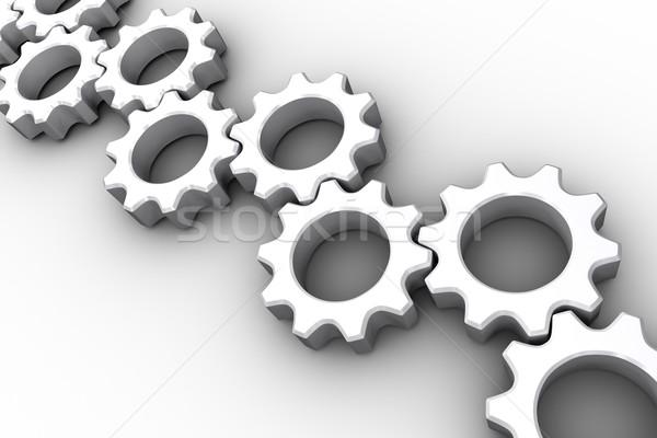 Veel witte wielen industrie Stockfoto © wavebreak_media