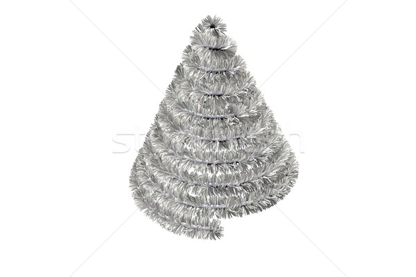 Stock photo: Christmas tree shape in tinsel