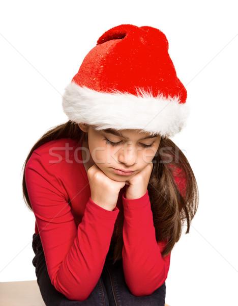 Feestelijk meisje gevoel triest witte kind Stockfoto © wavebreak_media