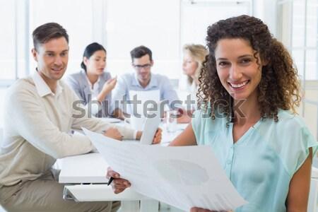 деловая женщина коллеги заседание за служба Сток-фото © wavebreak_media