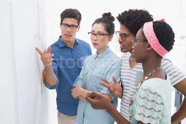 Młodych twórczej zespołu burza mózgów wraz biuro Zdjęcia stock © wavebreak_media