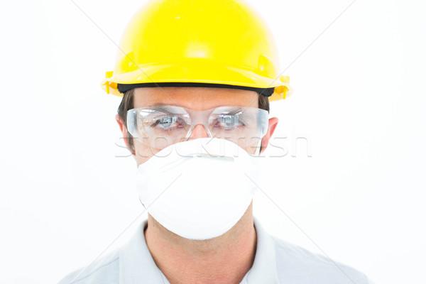 Worker wearing protective mask and glasses Stock photo © wavebreak_media