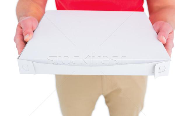 Pizza caixas branco homem trabalhando Foto stock © wavebreak_media
